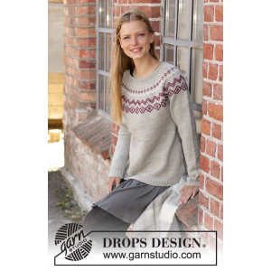 Old Mill Pulloverby DROPS Design - Bluse Strikkeoppskrift str. S - XXXL