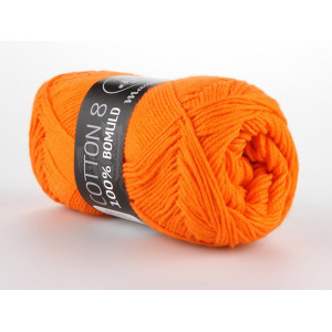 Mayflower Cotton 8/4 Garn Unicolor 1406 Oransje