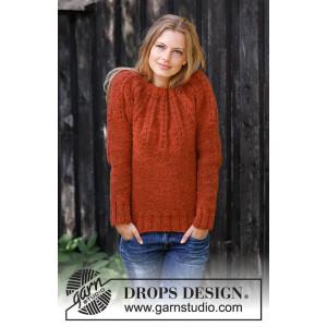 Clemenceby DROPS Design - Bluse Strikkeoppskrift str. S - XXXL