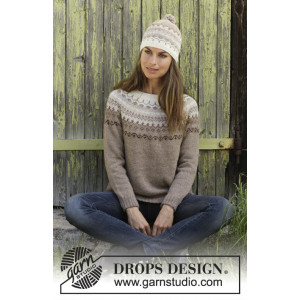 Talvikby DROPS Design - Bluse Strikkeoppskrift str. S - XXXL