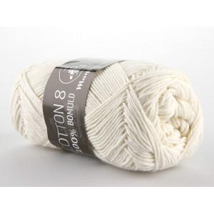 Mayflower Cotton 8/4 Garn Unicolor 1401 Natur