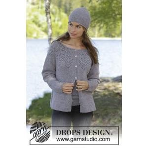 Agnesby DROPS Design - Jakke Strikkeoppskrift str. S - XXXL