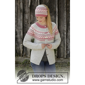 Hint of Heather by DROPS Design - Jakke Strikkeoppskift str. S - XXXL