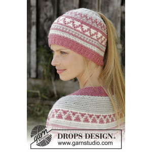 Hint of Heather Hat by DROPS Design - Lue Strikkeoppskrift str. S/M - L/XL