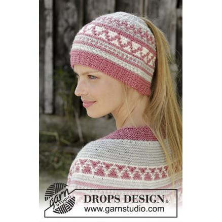 0d73943b Hint of Heather Hat by DROPS Design - Lue Strikkeoppskrift str. S/M ...
