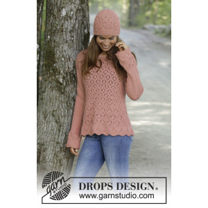 Lady Angelika by DROPS Design - Bluse Strikkeoppskrift str. S - XXXL