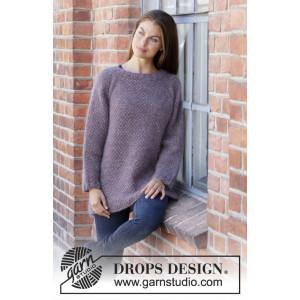 Simple Mindby DROPS Design - Bluse Strikkeoppskrift str. S - XXXL