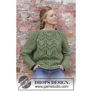 Miss Mossby DROPS Design - Bluse Strikkeoppskrift str. S - XXXL