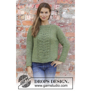 Clover by DROPS Design - Bluse Strikkeoppskrift str. S - XXXL