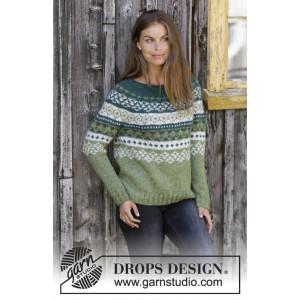 Bardu by DROPS Design - Bluse Strikkeoppskrift str. S - XXXL