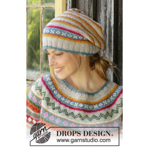 Winter Carnival Hat by DROPS Design - Lue Strikkeoppskrift str. S - XL