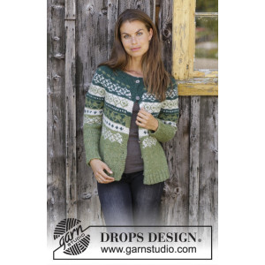Bardu Jacket by DROPS Design - Jakke Strikkeoppskrift str. S - XXXL