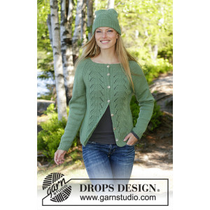 Green Luck by DROPS Design - Lue Strikkeoppskrift str. S/M - L/XL