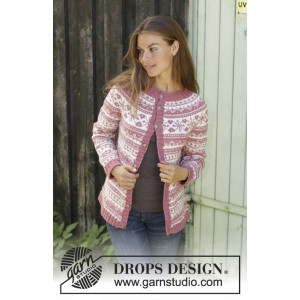 Selvik Jacket by DROPS Design - Jakke Strikkeoppskrift str. S - XXXL