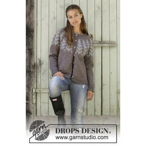 Inner Circle Jacket by DROPS Design - Jakke Strikkeoppskrift str. S - XXXL