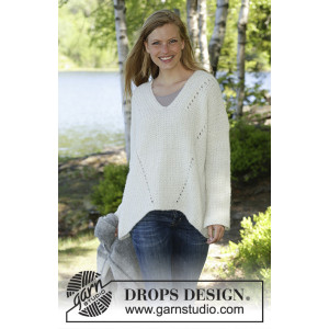 Zick Zack by DROPS Design - Bluse Strikkeoppskrift str. S - XXXL