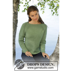 Green Wood by DROPS Design - Bluse Strikkeoppskrift str. S - XXXL