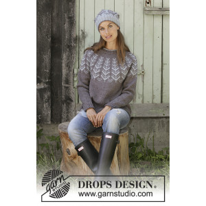 Inner Circle by DROPS Design - Bluse Strikkeoppskrift str. S - XXXL