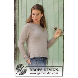 Wednesday Mood by DROPS Design - Bluse Strikkeoppskrift str. S - XXXL