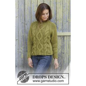 Green Tea by DROPS Design - Bluse Strikkeoppskrift str. S - XXXL