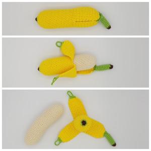 Karlas Banan av Rito Krea - Frukt Hekleoppskrift 17cm