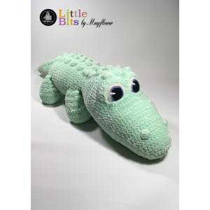Mayflower Little Bits Krokodillen Klaus - Bamse Hekleoppskrift