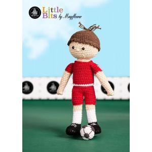 Mayflower Little Bits Fotballspilleren Frederik - Dukke Hekleoppskrift