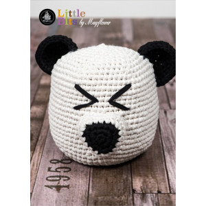 Mayflower Little Bits Dørstopper Panda - Dørstopper Hekleoppskrift