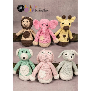 Mayflower Little Bits Familien Slaskebamse - Bamse Hekleoppskrift