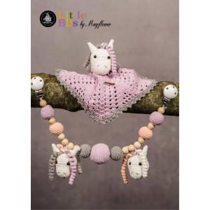 Mayflower Little Bits Babysett med Hest - Koseklut og Barnevognskjede Hekleoppskrift