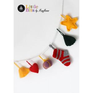 Mayflower Little Bits Julepynt på snor - Julepynt Hekleoppskrift
