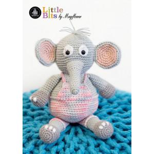 Mayflower Little Bits Elefanten Elton - Bamse Hekleoppskrift