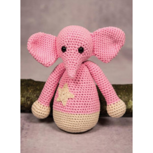 Mayflower Little Bits Elefanten Ella - Bamse Hekleoppskrift