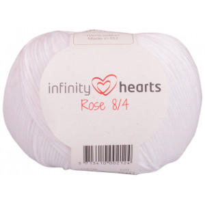 Infinity Hearts Rose 8/4 Garn Unicolor 02 Hvit