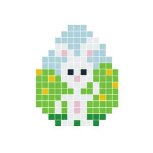 Påskehare hvit Pixelhobby - Påske Perlemønster