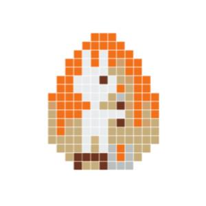 Påskehare Pixelhobby - Påske Perlemønster