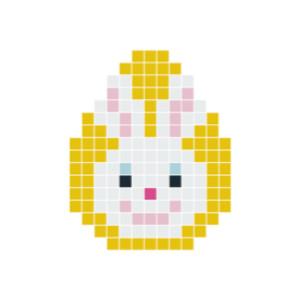 Påskehare Hode Pixelhobby - Påske Perlemønster