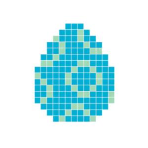 Påskeegg Blå Pixelhobby - Påske Perlemønster