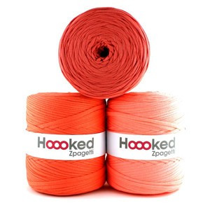 Hoooked Zpagetti Trikotgarn Unicolor 9 Oransje Nyanser 1 stk.