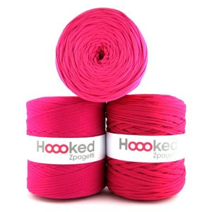 Hoooked Zpagetti Trikotgarn Unicolor 4 Pink Nyanser 1 stk.