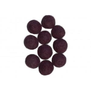 Ullkuler/Filtkuler 20mm Lilla Plomme V5 - 10 stk