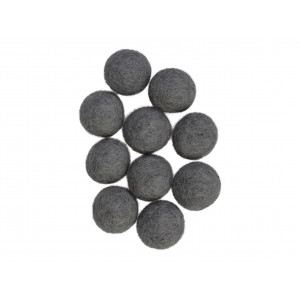 Ullkuler/Filtkuler 20mm Grå GY1 - 10 stk