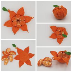 Karlas Appelsin av Rito Krea - Frukt Hekleoppskrift 22cm