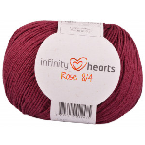 Infinity Hearts Rose 8/4 Garn Unicolor 24 Bordeauxrød