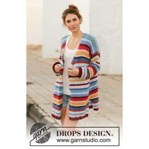 Color Clashby DROPS Design - Jakke Strikkeopskrift str. S - XXXL