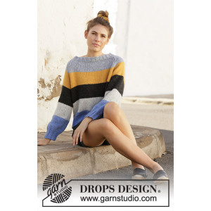 Valencia by DROPS Design - Genser Strikkeoppskrift str. S - XXXL