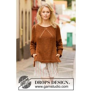 Autumn Spice by DROPS Design - Genser Strikkeoppskrift str. S - XXXL