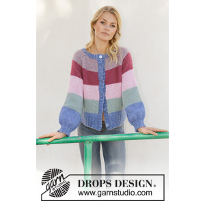 Sweet Country Sunrise Jacket by DROPS Design - Jakke Strikkeoppskrift str. S - XXXL