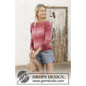 Raspberry Crush by DROPS Design - Genser Strikkeoppskrift str. S - XXXL