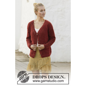 Robin Song Jacket by DROPS Design - Jakke Strikkeoppskrift str. S - XXXL
